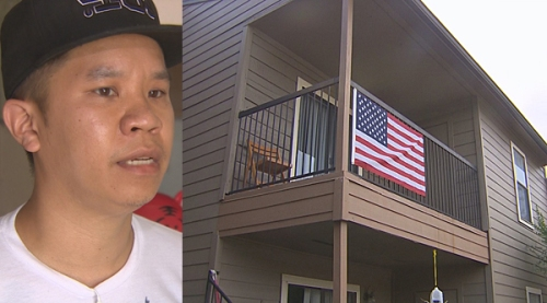 Man says apartment complex called his US flag a 'threat to Muslim community'